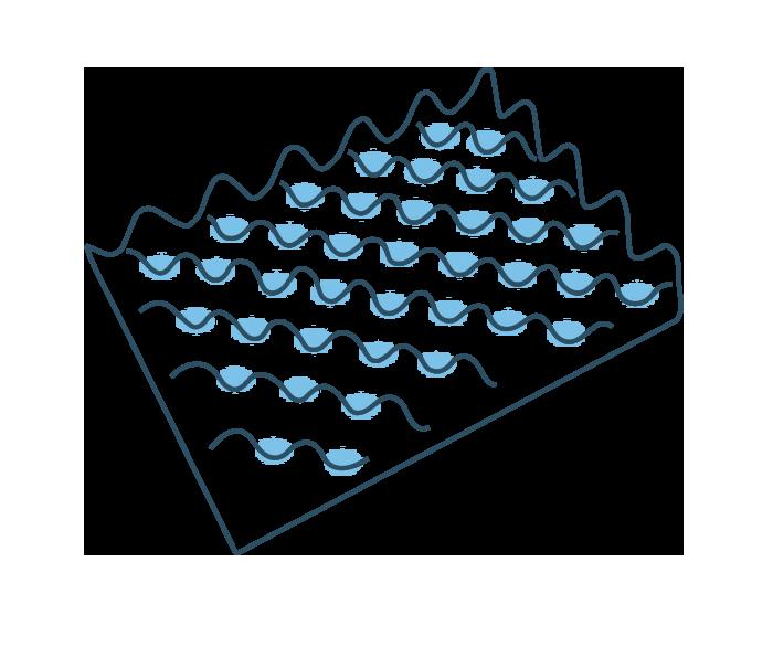 Espuma piramidal o huevera