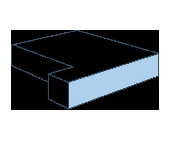 Espuma ángulo lateral derecho