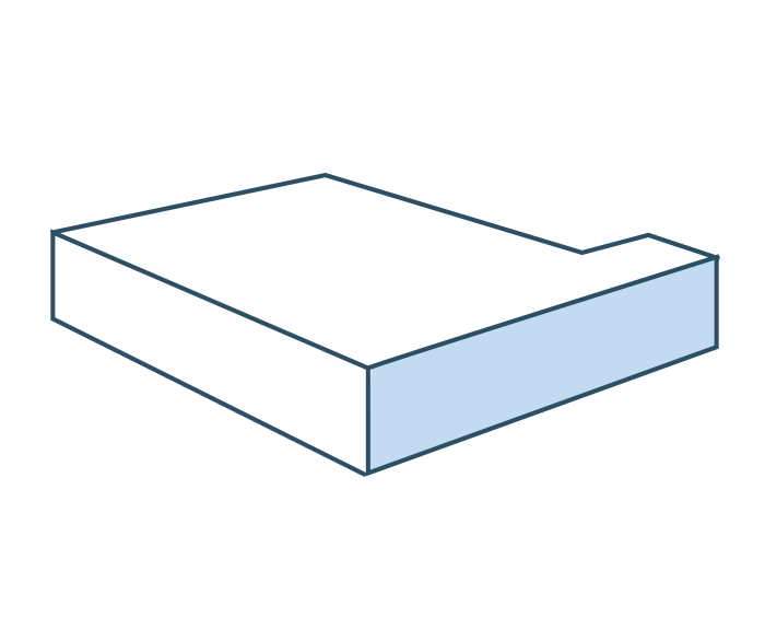 Espuma ángulo lateral izquierdo