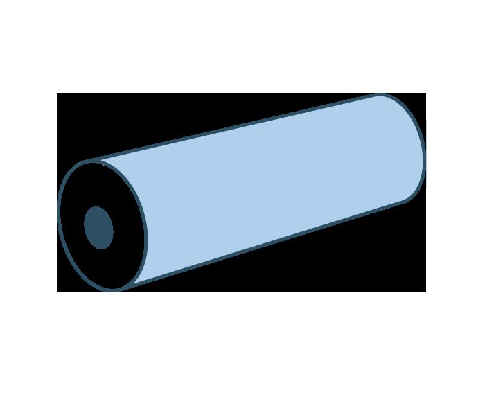 Espuma cilindro con agujero interior