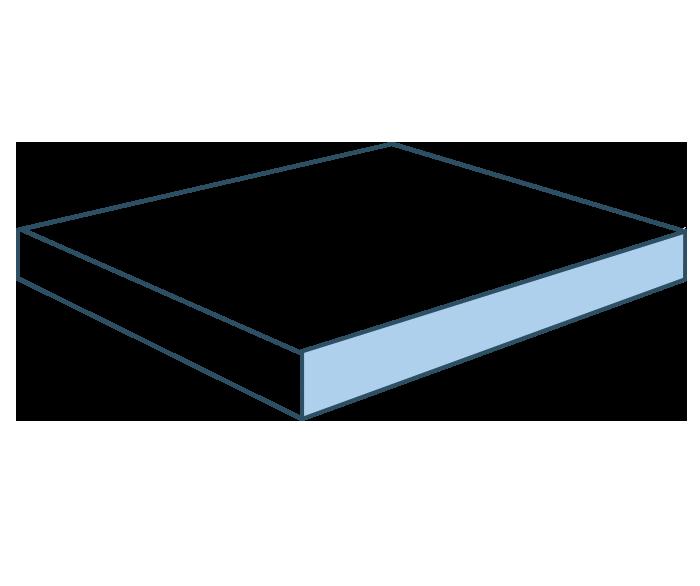 Plancha de medida estándar
